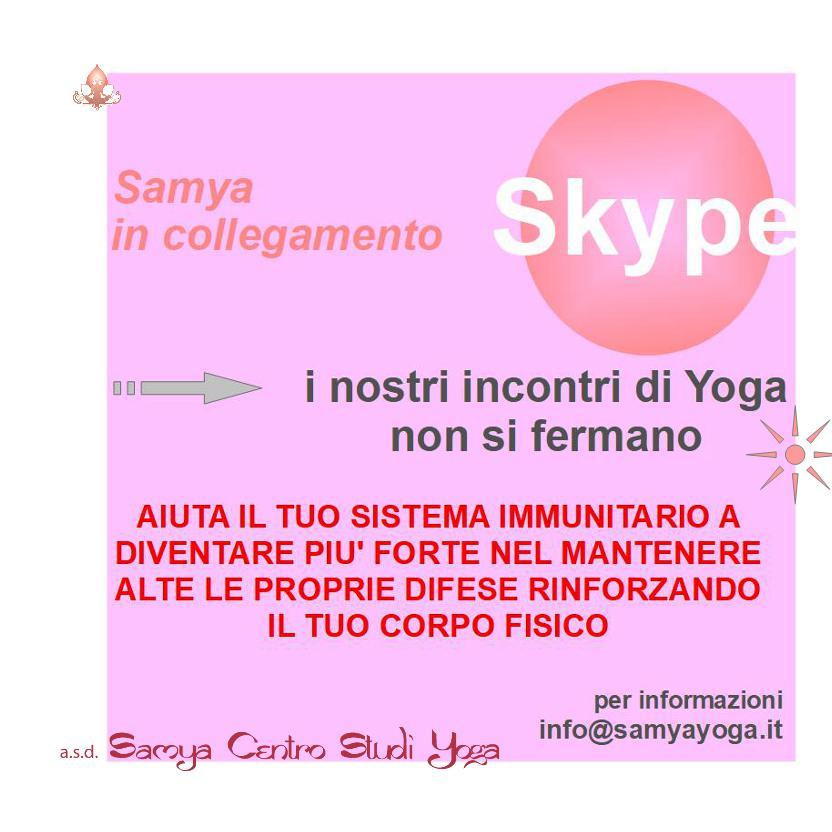 Samya in collegamento Skype